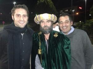 Con el paje real y Xavi Viza.