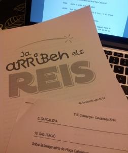 Guión y anexos de la Retransmisión de la Cabalgata de Reyes 2014 de TVE Catalunya