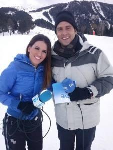 Con Cristina Pampín, de Tele 5.